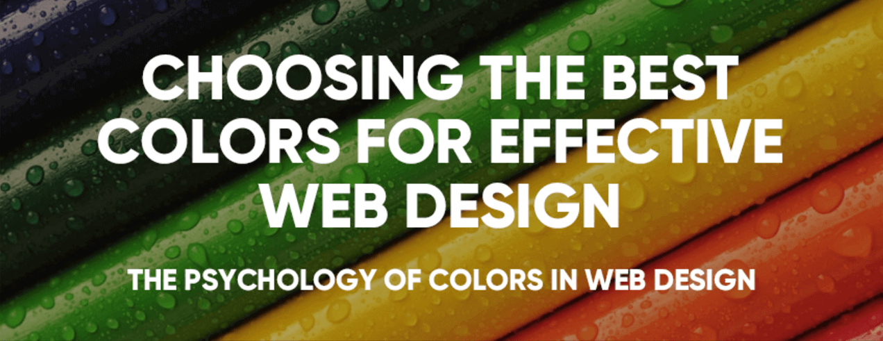 Psychology of Color: Best Colors for Website Design Infographic