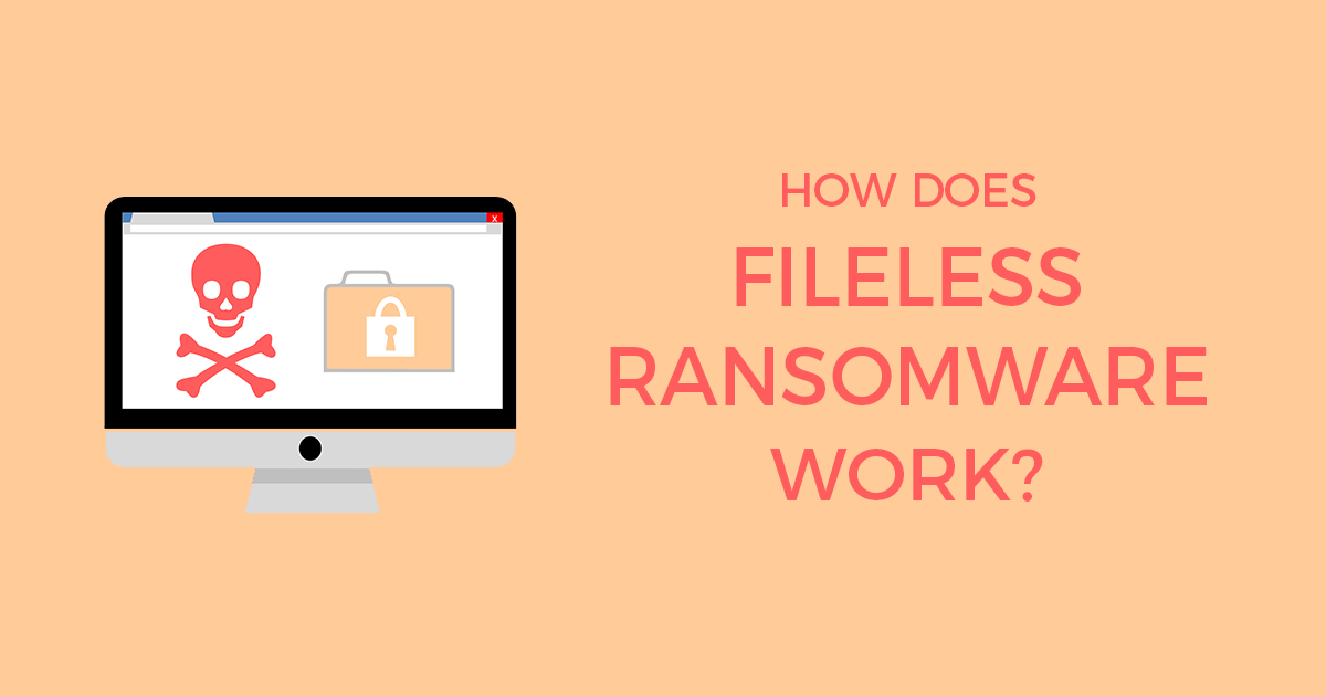 How Does Fileless Ransomware Work Infographic