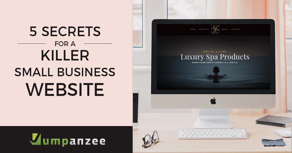 5 Secrets for Killer Small Business Website Design - Computer with MySpa USA Website