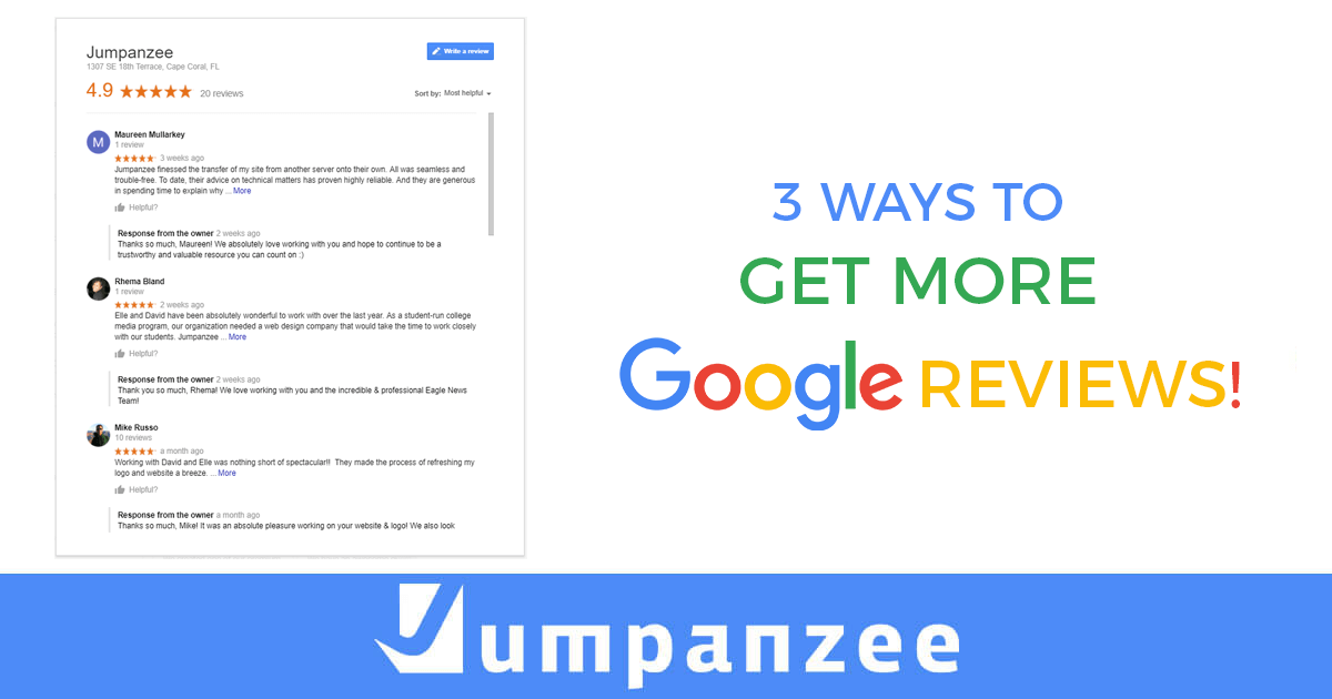 3 Ways to Get More Google Reviews!
