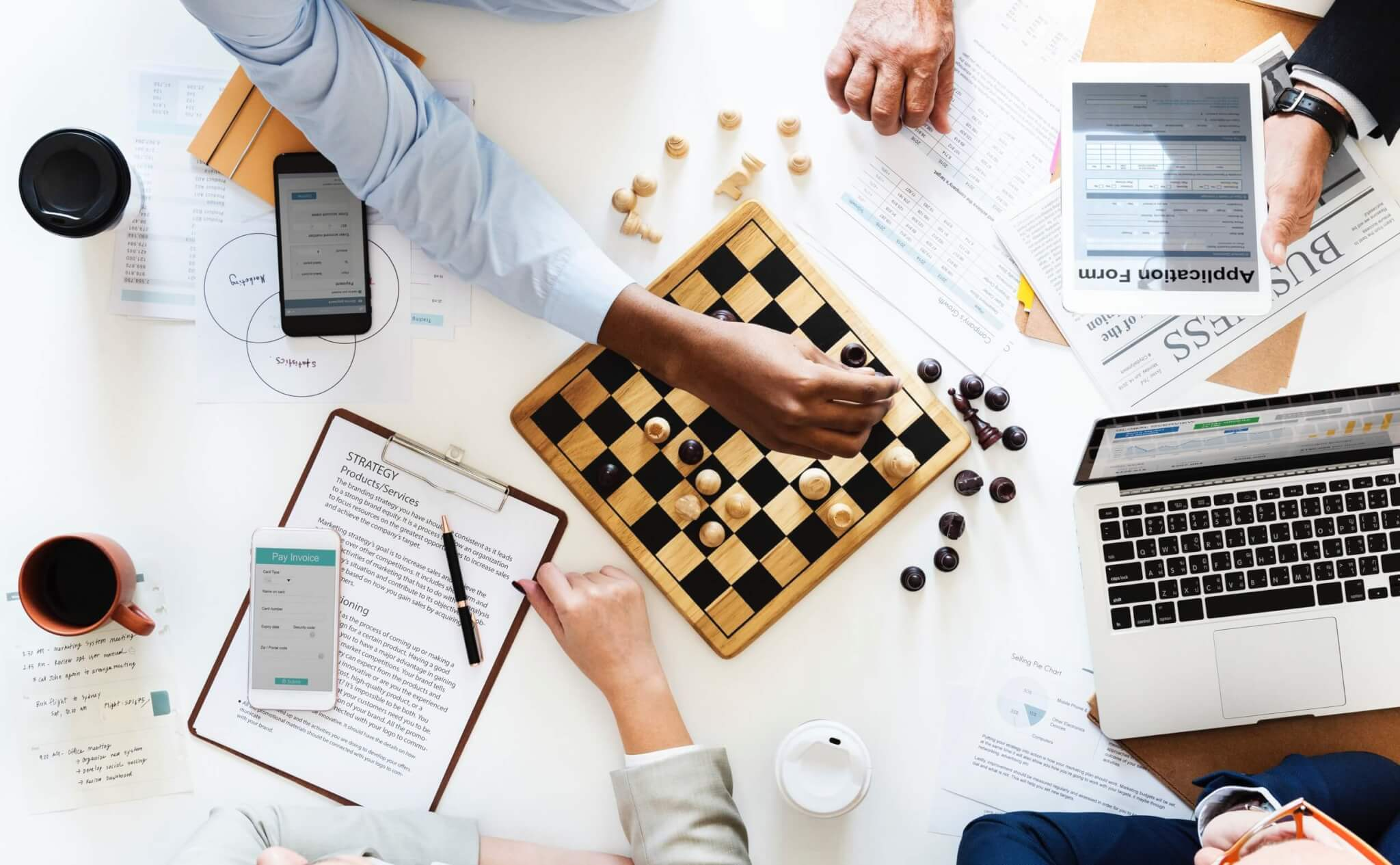Cost-Effective Marketing Strategies - Business Cellphone Chess